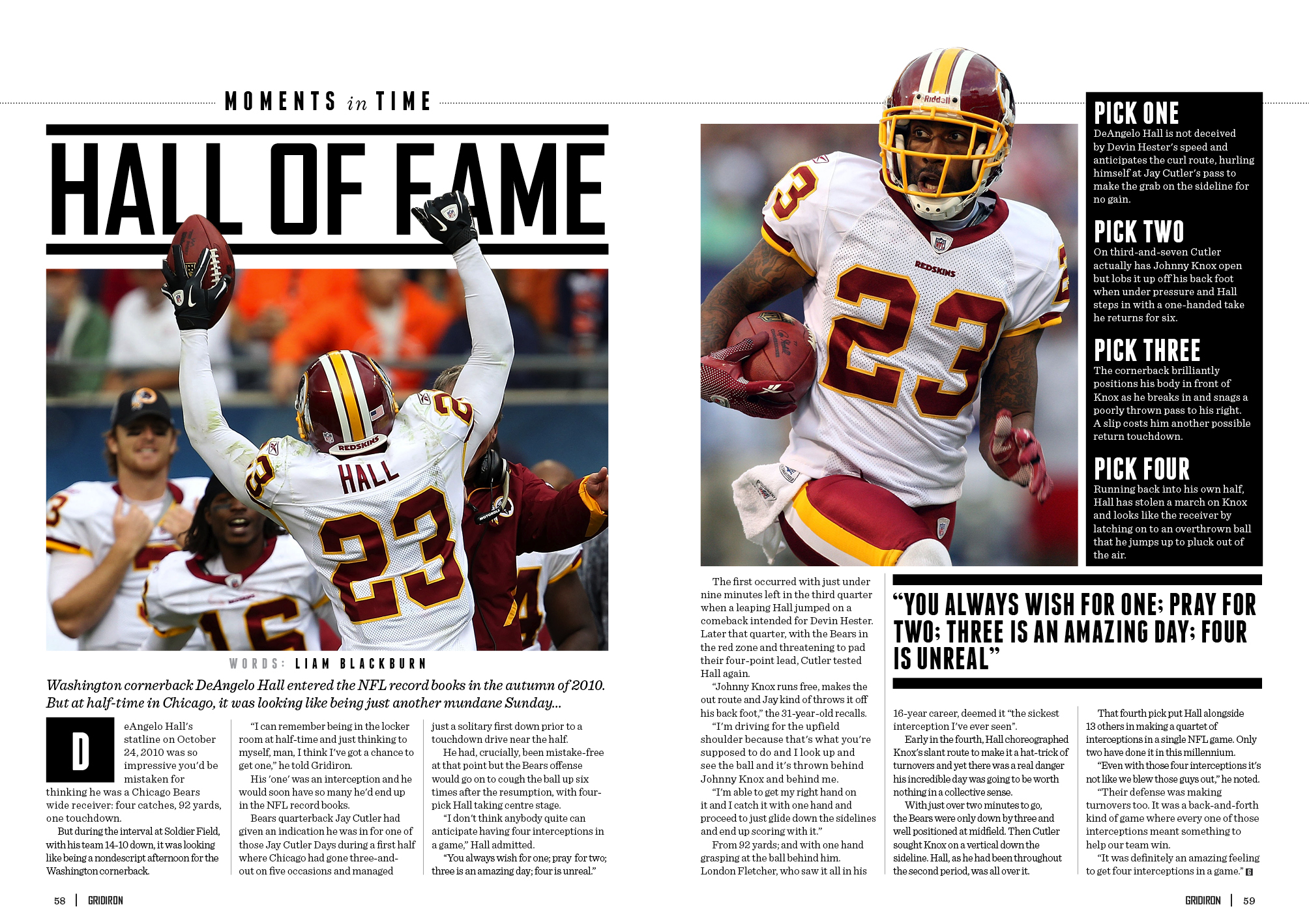 DeAngelo Hall Issue XVII spread
