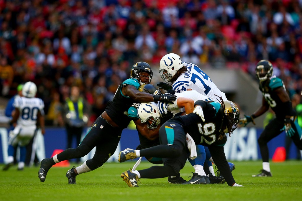 Andrew Luck, Indianapolis Colts v Jacksonville Jaguars, Wembley Stadium, London