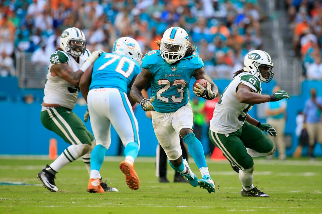 Jay Ajayi, New York Jets v Miami Dolphins