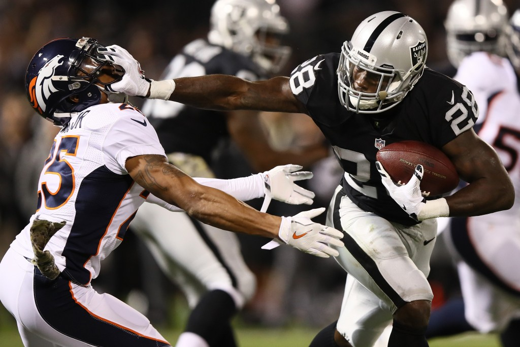 Latavius Murray, Denver Broncos v Oakland Raiders